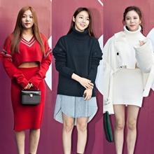 [패션엔 포토] 이채영-케이윌-강균성, '얼킨' 컬렉션의 유니크한 니트 패션!