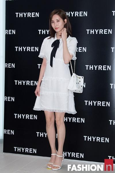 [패션엔 포토] 서현, 봄을 입은 순백의 원피스룩 '평양 홀린 국대급 미모'