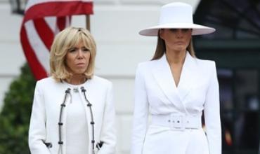 과시용인가 견제용인가? 멜라니아 트럼프 하얀 모자...그 불편한 시선