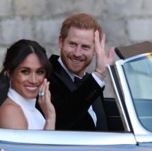'세기의 결혼식' 메건 마크리, 이브닝 파티룩 '홀터넥 드레스' 어디꺼?