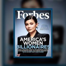 22세 카일리 제너, 최연소 자수성가한 여성 부자에 등극!