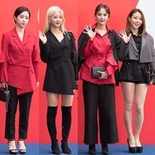 [패션엔 포토] 은가은·혜연·서효명·황인선, 레드&블랙으로 물든 '도조' 셀럽들!