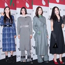 [패션엔 포토] 이다희·이현이·손태영·효민, YCH 컬렉션 빛낸 우아한 미녀들