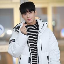 차은우, 황금비율 뽐낸 스타일시한 화이트 패딩룩 '순정미 UP!'