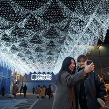 커먼그라운드, 30만개 눈꽃 점등! '스태리 블루 그라운드' 오픈