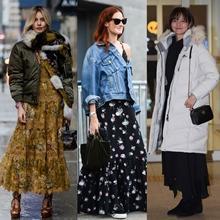올 겨울 더 멋스러운 맥시 드레스 스트리트 스타일 공식 17