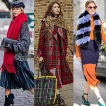 겨울 패션의 활력! 스타일리시한 머플러 스트리트 스타일 17