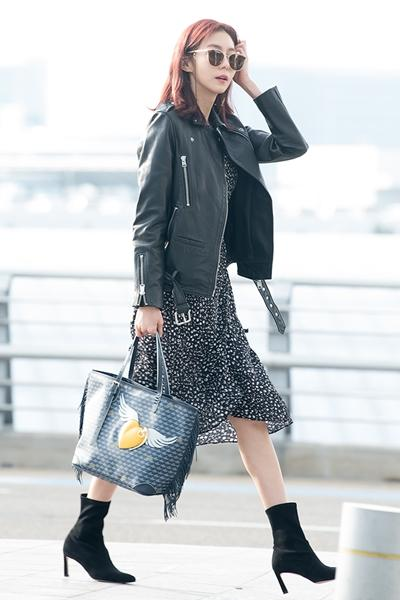 [패션엔 포토] 유이, 라이더 재킷으로 멋낸 프렌치 시크룩의 정석!