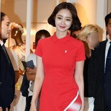 [패션엔 포토] 고준희, 단발과 찰떡! 각선미 자랑하는 골프 원피스룩
