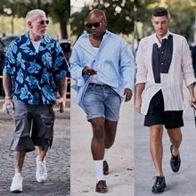 클리비지 vs 쇼츠, 2020 봄/여름 남성복 패션위크 스트리트 패션