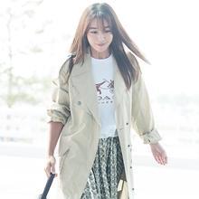 [패션엔 포토] 이민정, 한여름의 트렌치 코트룩 '화보같은 출국길'