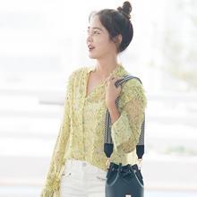 [패션엔 포토] 성유리, 상큼한 출국길! 똥머리와 안경으로 '청순미 UP'