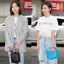 [패션엔 포토] 김가은·박효주, 데님 팬츠로 멋낸 종방연 리얼웨이룩