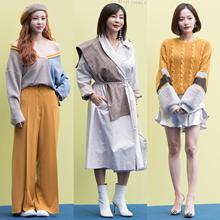 [패션엔 포토] 전효성·황신혜·배윤경, 라이 컬렉션 물들인 낭만 가을룩
