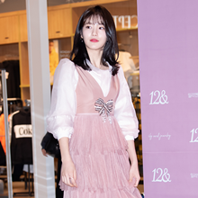 [패션엔 포토] 신예은, 러블리 그자체! 걸리시한 핑크 원피스룩