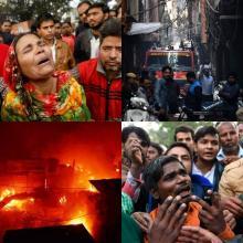 인도 가방 공장 화재 참사...저임금 노동자 43명 사망