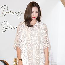 [패션엔 포토] 선미, 청순한 듯 섹시한 시스루 드레스룩